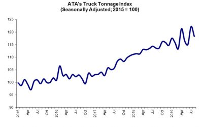 ATA: Truck Tonnage Declined in August but Recession Still Unlikely