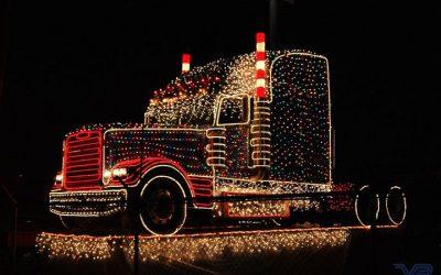 Truckers Help Santa Deliver Christmas